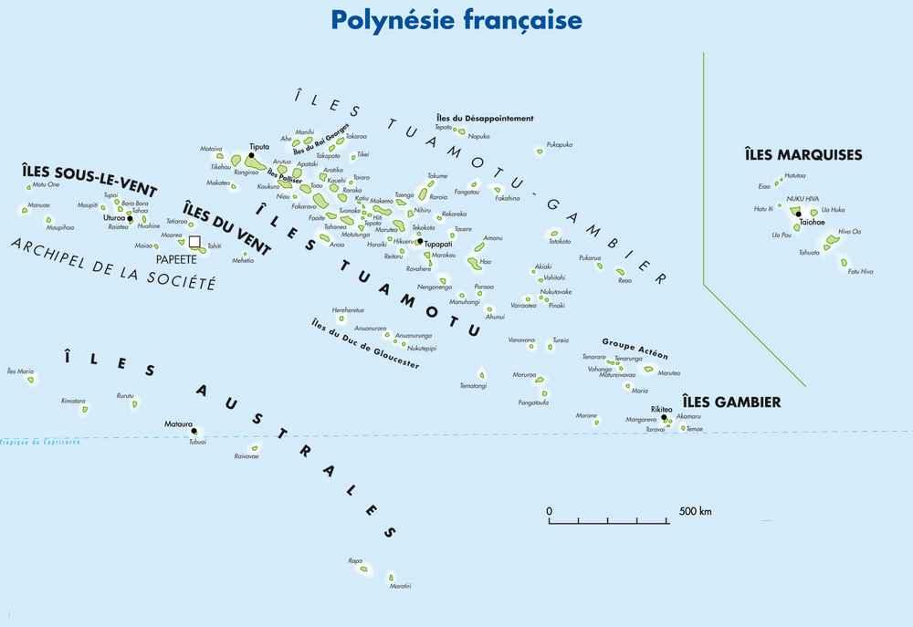 polynesie-carte - Photo